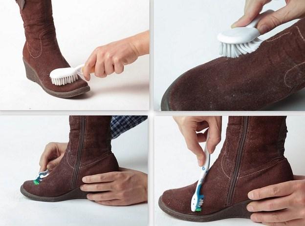 Как почистить замшевую обувь в домашних условиях. Видео 75