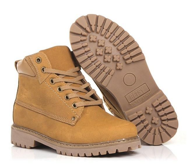 ботинки из искусственного нуука
