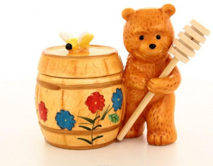 мед в деревянной банке