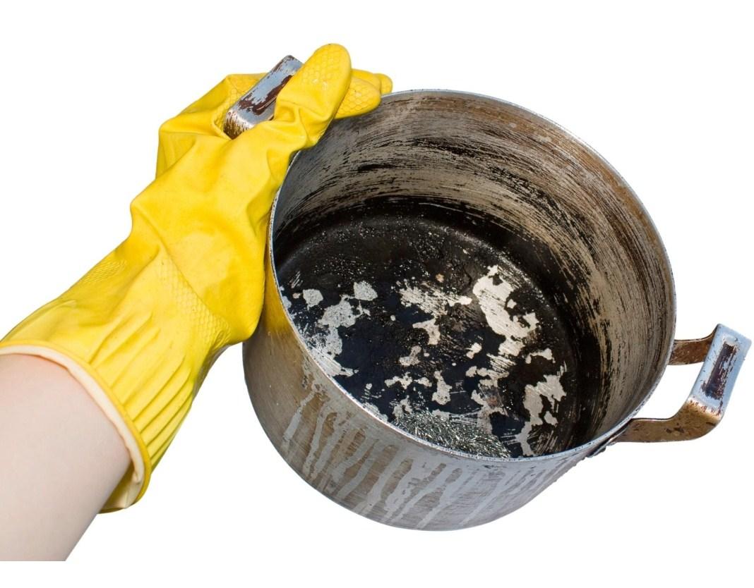 Как отмыть сковороду и другую посуду от старого жира и нагара 53