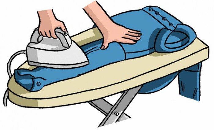 гладим рукав рубашки