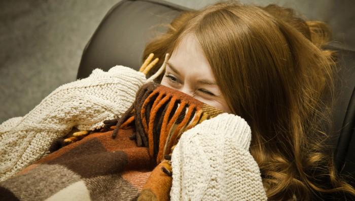 Теплый уютный плед
