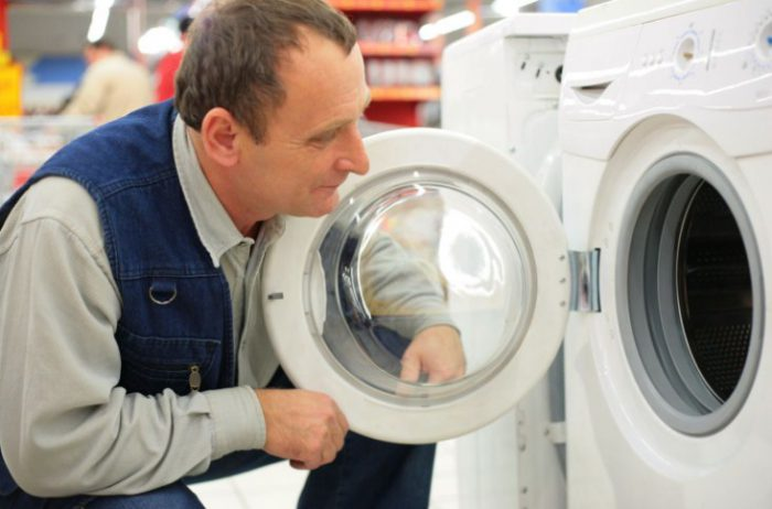 осматриваем стиральную машинку