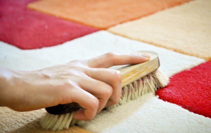 как почистить белый ковер в домашних условиях