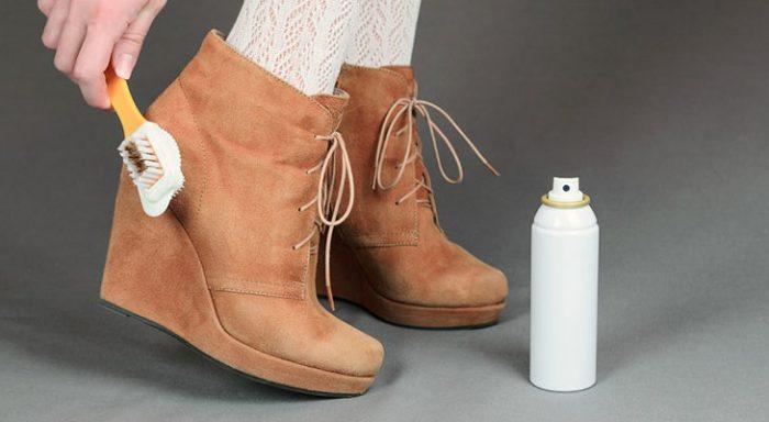 чистка замшевых ботинок в домашних условиях