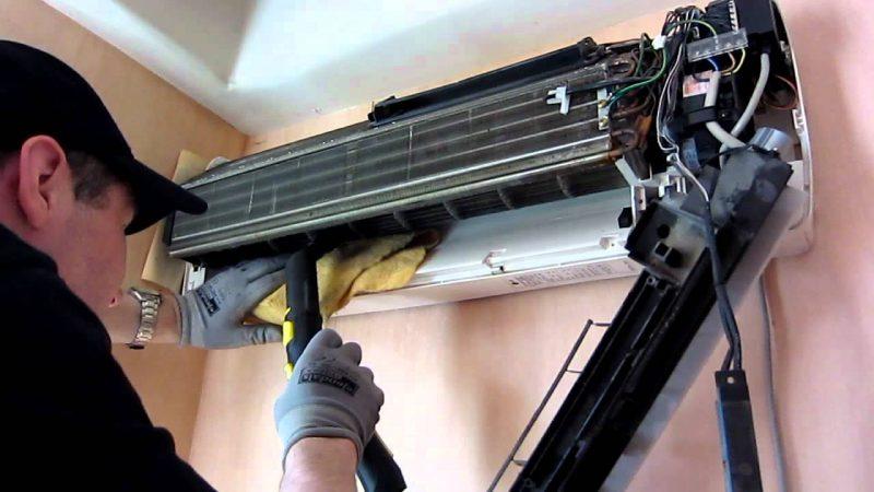 очистка теплообменника кондиционера