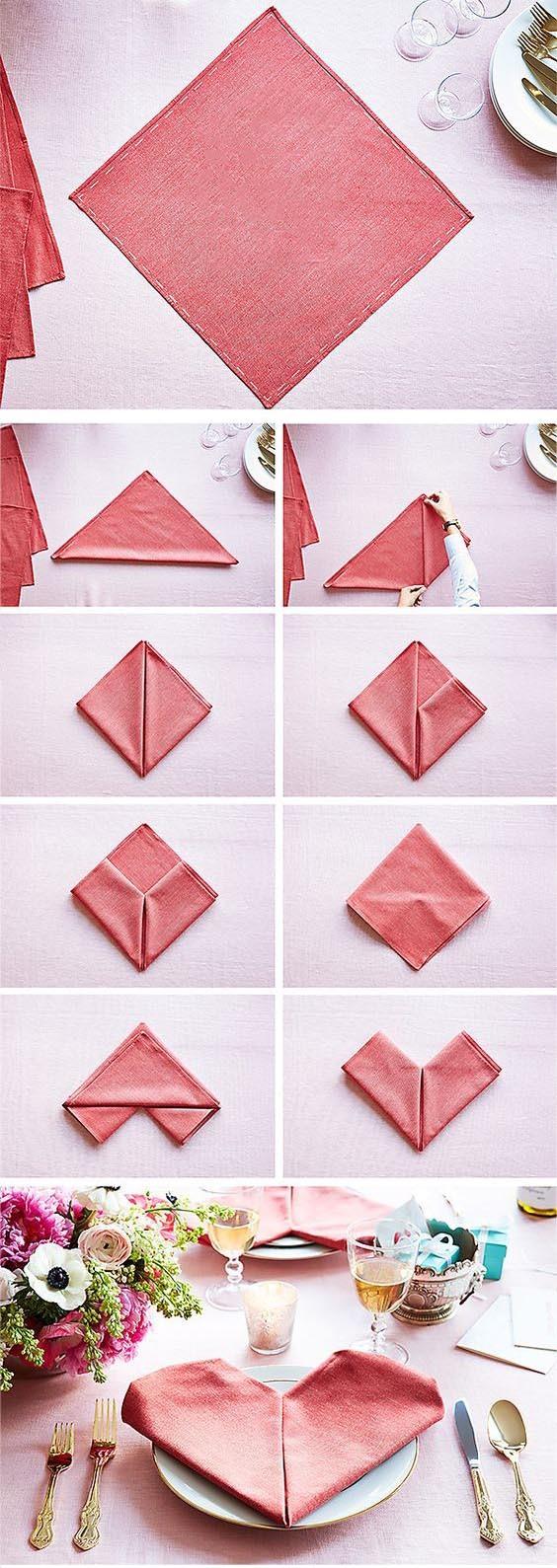 Как сделать оригами из салфеток на стол