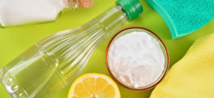 сода, уксус, соль, лимон