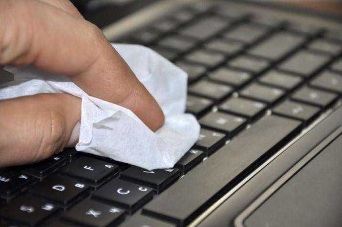 чистим клавиатуру