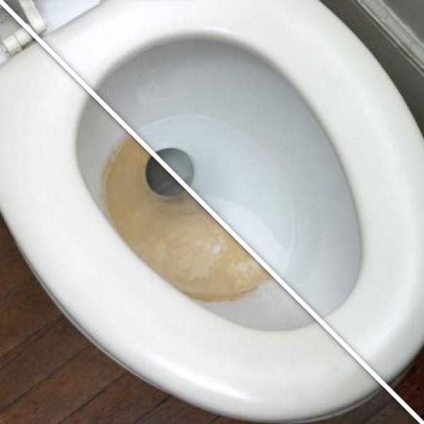 удалить ржавчину в унитазе