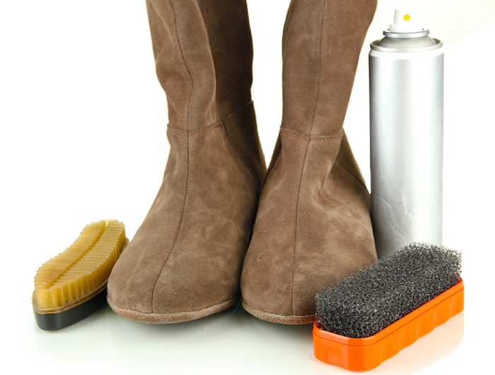 чистка замшевой обуви