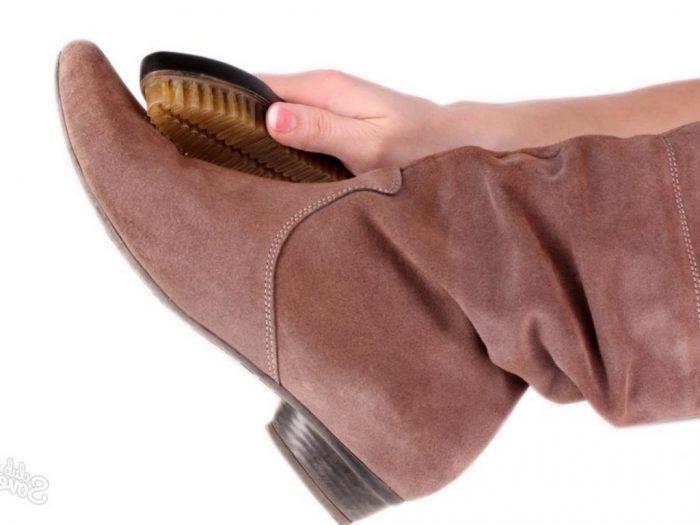чистка обуви из замша