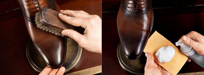 чистим замшевую обувь