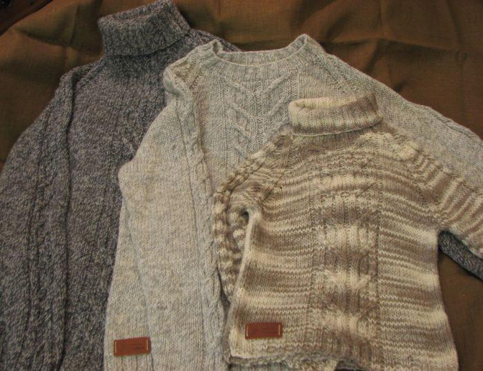 растягиваем свитер быстро