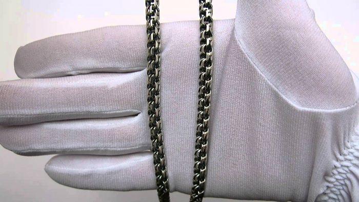 чистка серебряной цепочки от черноты