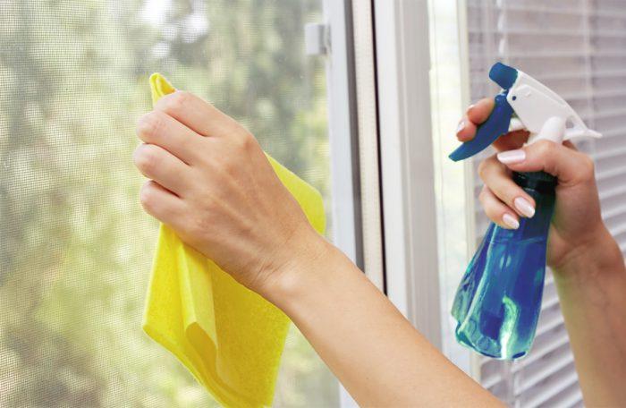 помыть окна без разводов