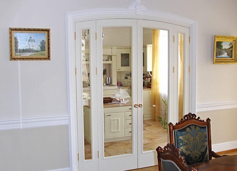 Межкомнатные двери белого цвета в интерьере