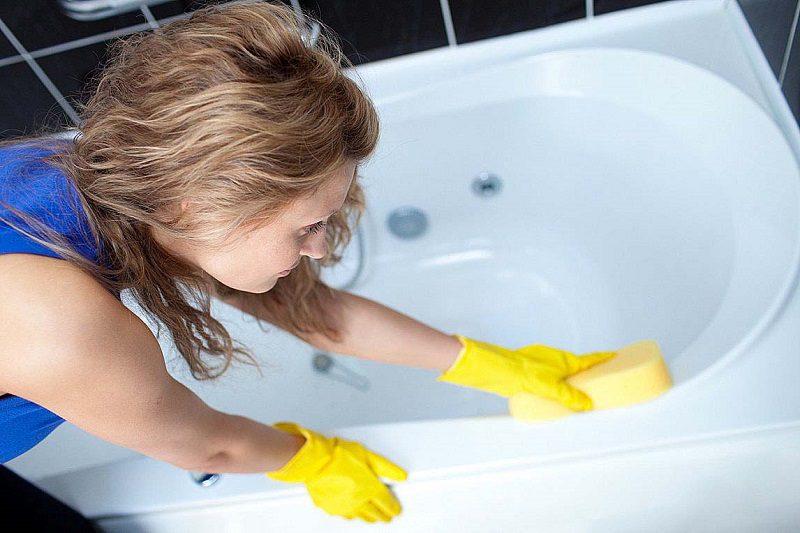 Как быстро отбелить ванну