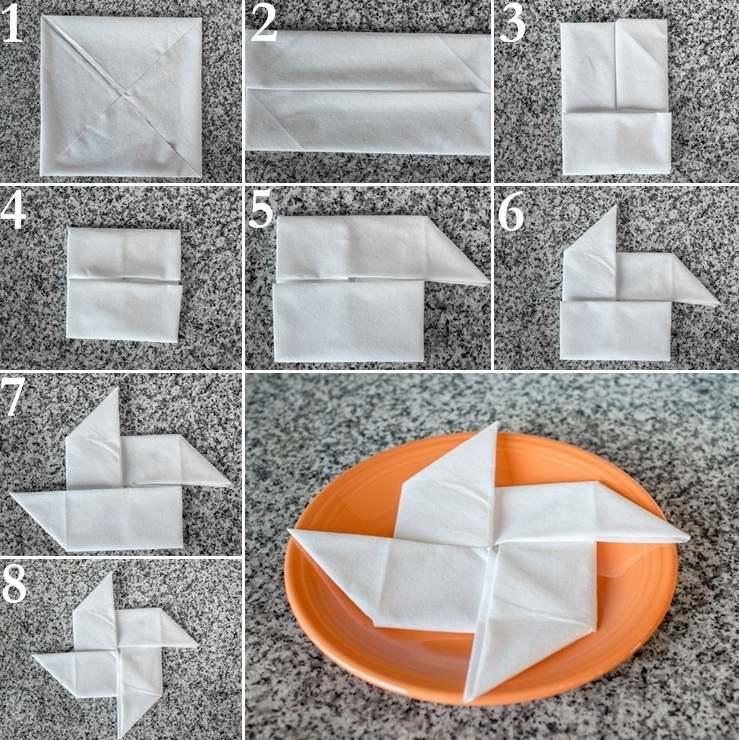 как изготовить из салфетки вертушку