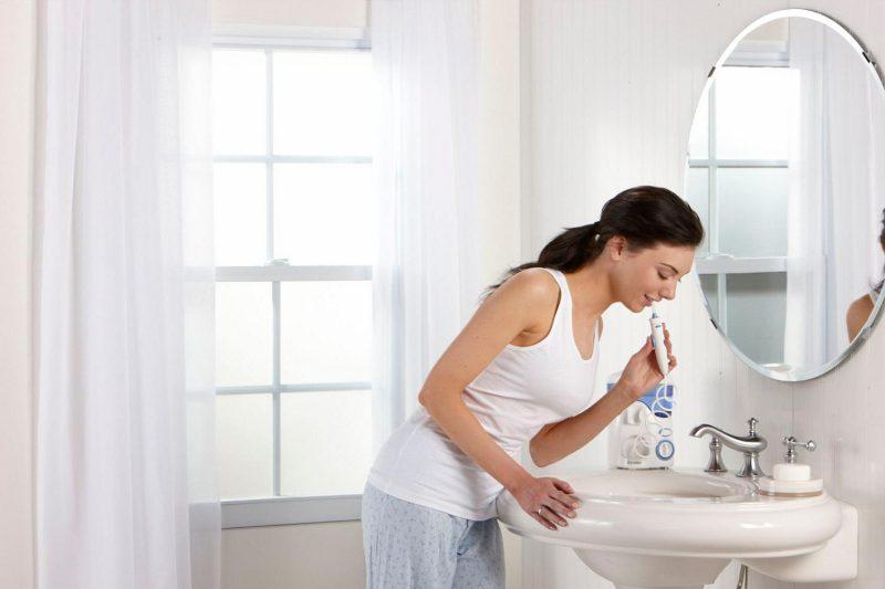 использование электрической зубной щетки