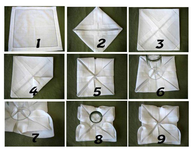 как сложить салфетку в виде лилии